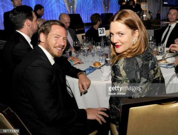 Will Kopelman and actress Drew Barrymore attend the 24th Annual GLAAD Media Awards at JW Marriott Los Angeles at LA LIVE on April 20 2013 in Los...
