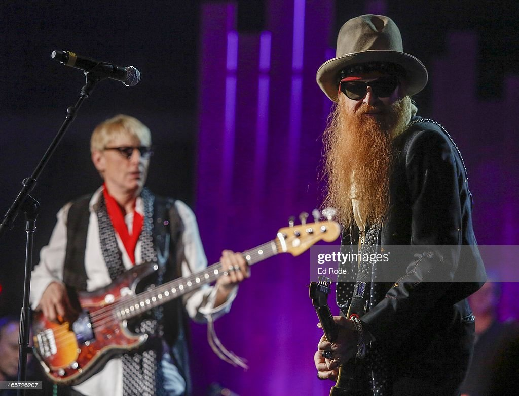Will Lee and Billy Gibbons attends the 2014 Musicians Hall of Fame Induction Ceremony at Nashville Municipal Auditorium on January 28, 2014 in Nashville, Tennessee.