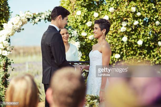i will love you for as long as we live - wedding ceremony stock pictures, royalty-free photos & images