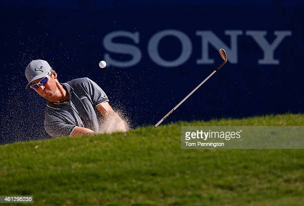 Will MacKenzie hits a shot during a practice round prior to the Sony Open in Hawaii at Waialae Country Club on January 7 2014 in Honolulu Hawaii