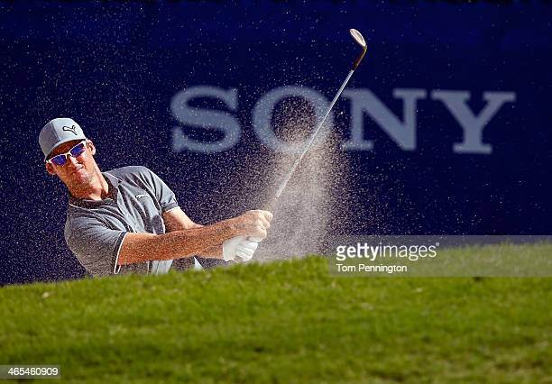 Will MacKenzie plays a shot during a practice round prior to the Sony Open in Hawaii at Waialae Country Club on January 7 2014 in Honolulu Hawaii