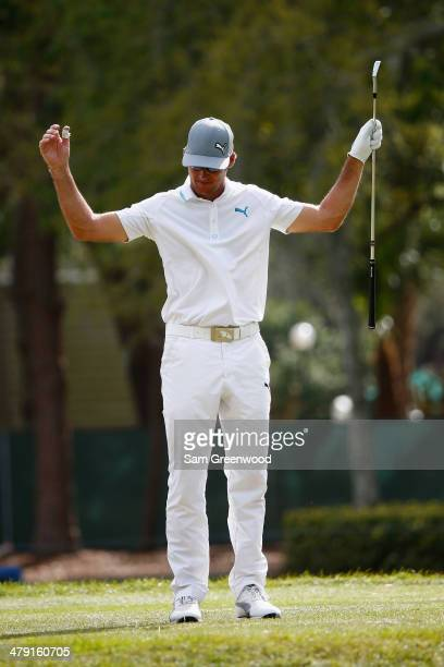 Will MacKenzie reacts to his tee shot on the 17th hole during the final round of the Valspar Championship at Innisbrook Resort and Golf Club on March...