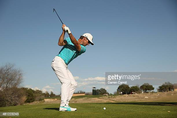 Will Mackenzie tees off on the 7th during Round Two of the Valero Texas Open at TPC San Antonio ATT Oak Course on March 28 2014 in San Antonio Texas