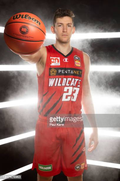 Will Magnay poses during the Perth Wildcats NBL media day at Bendat Basketball Centre on May 11, 2021 in Perth, Australia.