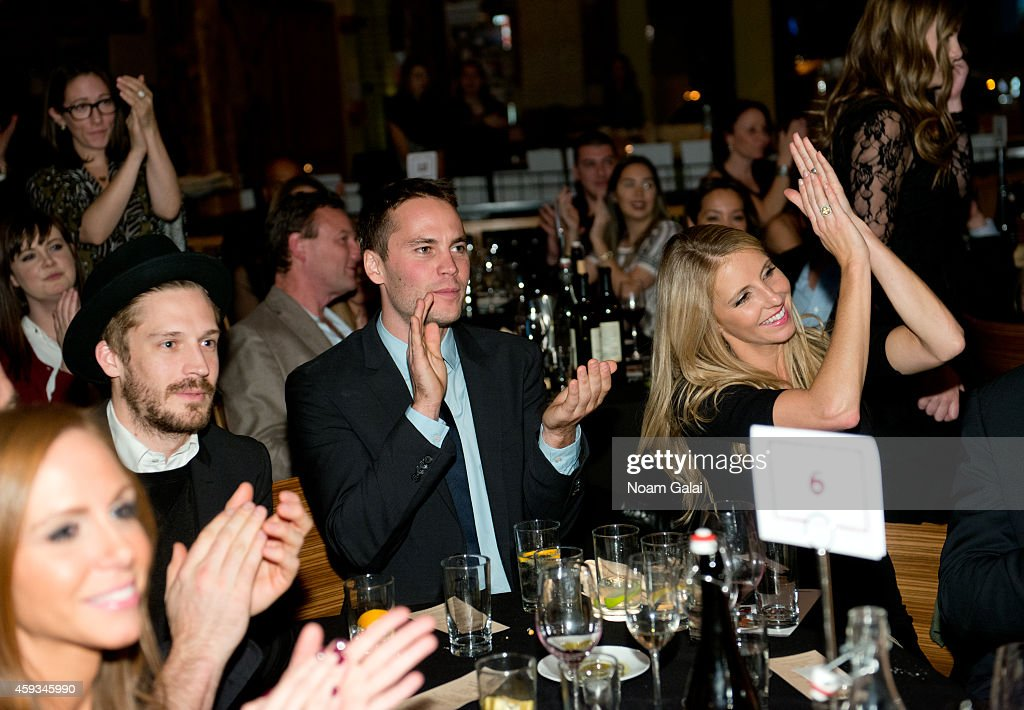 Will Malnati, actor Taylor Kitsch and Jennifer Welch attend the 6th Annual African Children's Choir Changemakers Gala at City Winery on November 20, 2014 in New York City.