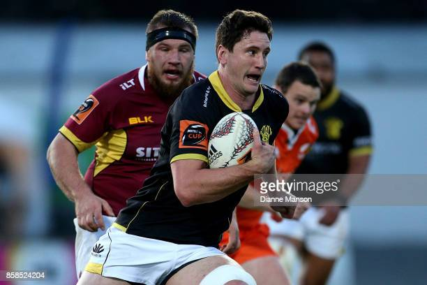 Will Mangos of Wellington runs the ball during the round eight Mitre 10 Cup match between Southland and Wellington at Rugby Park Stadium on October 7...