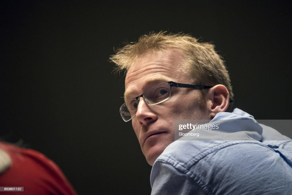 Will Marshall, co-founder and chief executive officer at Planet Labs Inc., watches a presentation at the 2017 South By Southwest (SXSW) Interactive Festival at the Austin Convention Center in Austin, Texas, U.S., on Wednesday, March 15, 2017. The SXSW Interactive Festival features a variety of tracks that allow attendees to explore what's next in the worlds of entertainment, culture, and technology. Photographer: David Paul Morris/Bloomberg via Getty Images
