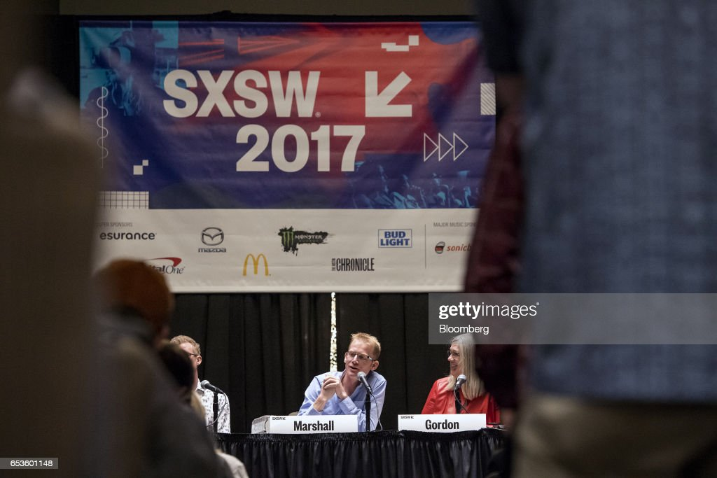 Will Marshall, co-founder and chief executive officer at Planet Labs Inc., speaks as Susan Gordon, deputy director of the National Geospatial Intelligence Agency (NGA), right, listens during the 2017 South By Southwest (SXSW) Interactive Festival at the Austin Convention Center in Austin, Texas, U.S., on Wednesday, March 15, 2017. The SXSW Interactive Festival features a variety of tracks that allow attendees to explore what's next in the worlds of entertainment, culture, and technology. Photographer: David Paul Morris/Bloomberg via Getty Images