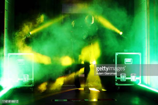 Will McDonald of the Ball Hogs is introduced before the game against 3's Company during week four of the BIG3 three on three basketball league at...