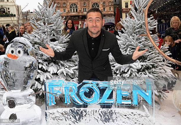 Will Mellor attends Disney's Frozen celebrity screening at the Odeon Leicester Square on November 17 2013 in London England