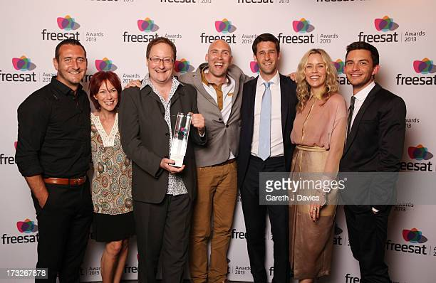 Will Mellor Tanya Franks Chris Chibnall Joe Sims Tom James Simone McAullay and Jonathan Bailey winners of the Best of British TV Programme at The...