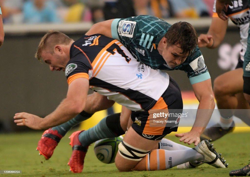 Super Rugby Rd 3 - Brumbies v Highlanders : News Photo