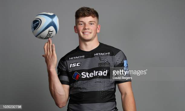 Will Montgomery of Newcastle Falcons poses for a portrait during the Newcastle Falcons squad photo call for the 201819 Gallagher Premiership Rugby...