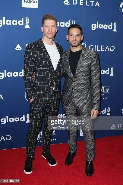 Will Moroski and Johnny Sibilly attend the 29th Annual GLAAD Media Awards at the New York Hilton Midtown on May 5 2018 in New York New York