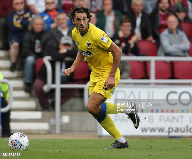 Will Nightingale of AFC Wimbledon in action during the Sky Bet League One match between Northampton Town and AFC Wimbledon at Sixfields on October 14...