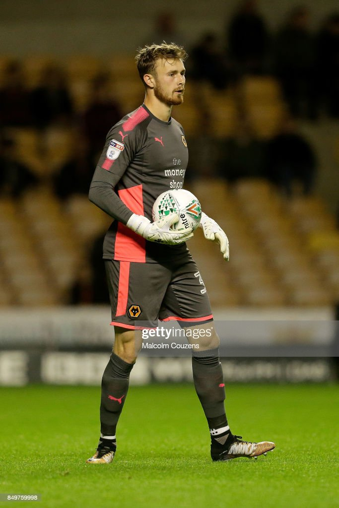 Will Norris of Wolverhampton Wanderers during the Carabao Cup tie between Wolverhampton Wanderers and Bristol Rovers at Molineux on September 19, 2017 in Wolverhampton, England.