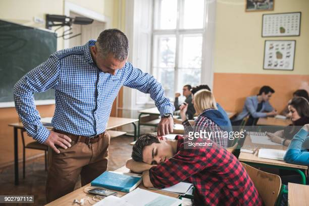 i will not tolerate sleeping on my class! - penalty stock pictures, royalty-free photos & images