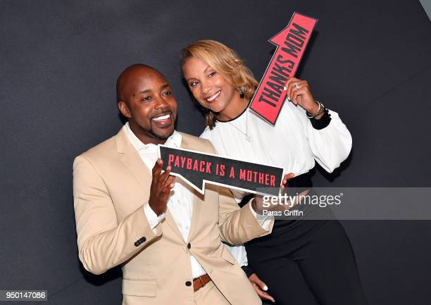 Will Packer and Heather Hayslett Packerattend Breaking In Atlanta Private Screening at Regal Atlantic Station on April 22 2018 in Atlanta Georgia