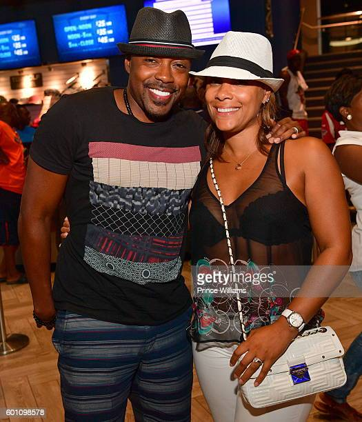 Will Packer and Heather Hayslett attend LudaDay Weekend TopGolf Takeover at TopGolf on September 4 2016 in Atlanta Georgia