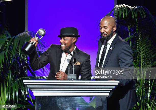Will Packer and Malcolm D Lee accept the award for Outstanding Directing in a TV Film at the 49th NAACP Image Awards NonTelevised Awards Dinner at...