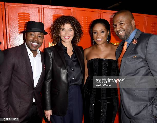 Will Packer Donna Langely Tiffany Haddish and Malcolm D Lee arrive at the premiere of Universal Pictures' Night School at the Regal Cinemas LA LIVE...