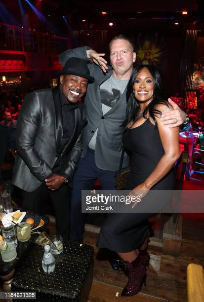 Will Packer Gary Owen and Kenya Duke celebrate Kevin Hart's 40th birthday at TAO with LOUIS XIII Cognac and Rémy Martin on July 06 2019 in Los...