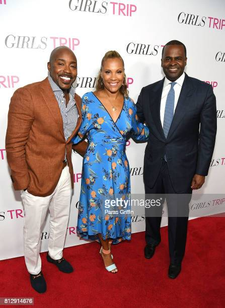 Will Packer Heather Hayslett Packer and Kasim Reed at Girls Trip Atlanta special screening at SCADshow on July 11 2017 in Atlanta Georgia