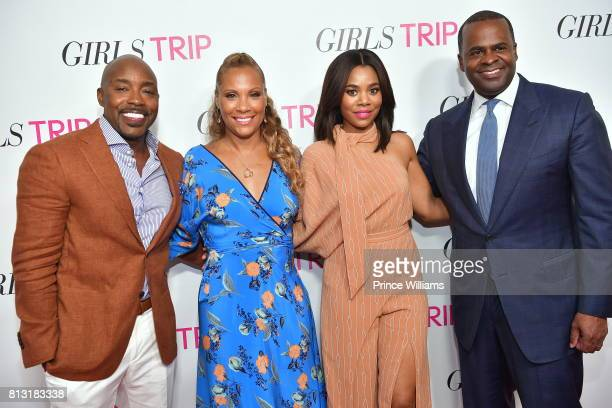 Will Packer Heather Hayslett Packer Regina Hall and Kasim Reed attend Girls Trip atlanta Screening at SCADshow on July 11 2017 in Atlanta Georgia