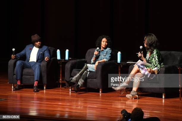 Will Packer Jada Pinkett Smith and Fredricka Whitfield onstage at Careers In Entertainment Tour Atlanta at Morehouse College on October 20 2017 in...