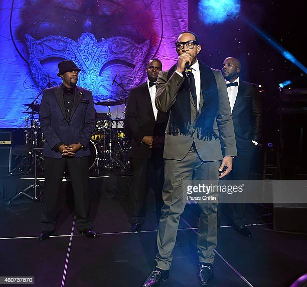 Will Packer Kasim Reed Ludacris and Young Jeezy onstage at the 31st Annual UNCF Mayor's Masked Ball at Marriott Marquis Hotel on December 20 2014 in...