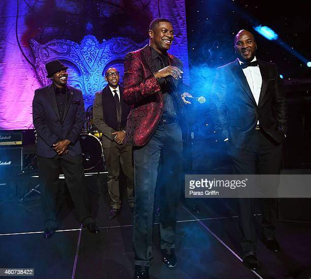 Will Packer Ludacris Chris Tucker and Young Jeezy onstage at 31st Annual UNCF Mayor's Masked Ball at Marriott Marquis Hotel on December 20 2014 in...