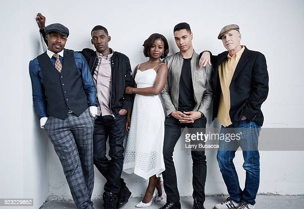 Will Packer Malachi Kirby Erica Tazel RegeJean Page and Mark Wolper from Roots pose at the Tribeca Film Festival Getty Images Studio on April 21 2016...