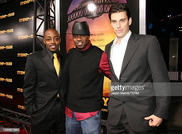 Will Packer Rob Hardy and Mark Weinstock during Stomp The Yard Premiere Red Carpet at Cinerama Dome in Hollywood California United States