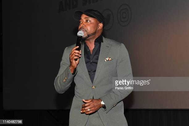 "Will Packer speaks onstage during ""Little"" Atlanta red carpet screening at Regal Atlantic Station on April 04, 2019 in Atlanta, Georgia."