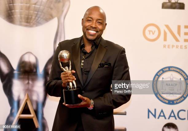 Will Packer winner of the Outstanding Motion Picture award for 'Girls Trip' poses in the press room for the 49th NAACP Image Awards at Pasadena Civic...