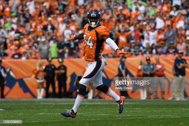 Will Parks of the Denver Broncos celebrates a missed field goal during the second quarter against the Seattle Seahawks The Denver Broncos hosted the...
