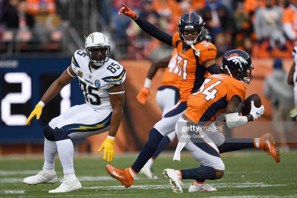Denver Broncos vs. Los Angeles Chargers, NFL Week 16 : News Photo