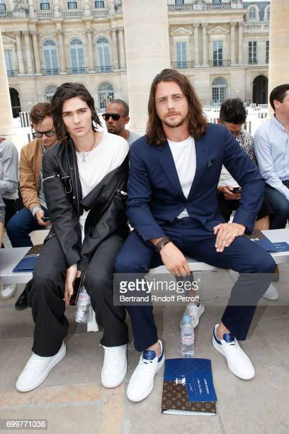 Will Peltz and Ben Robson attend the Louis Vuitton Menswear Spring/Summer 2018 show as part of Paris Fashion Week on June 22 2017 in Paris France
