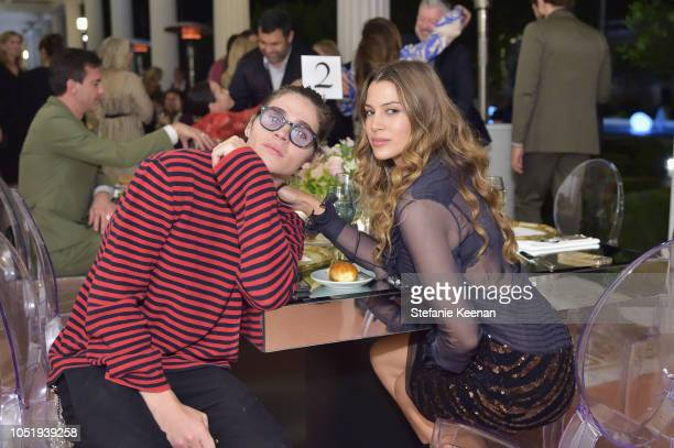 Will Peltz and Kenya KinskiJones attend The Getty C Magazine Dinner at The Getty Villa on October 11 2018 in Pacific Palisades California
