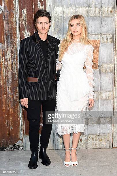 Will Peltz and Nicola Peltz attend the Givenchy fashion show during Spring 2016 New York Fashion Week at Pier 26 at Hudson River Park on September 11...