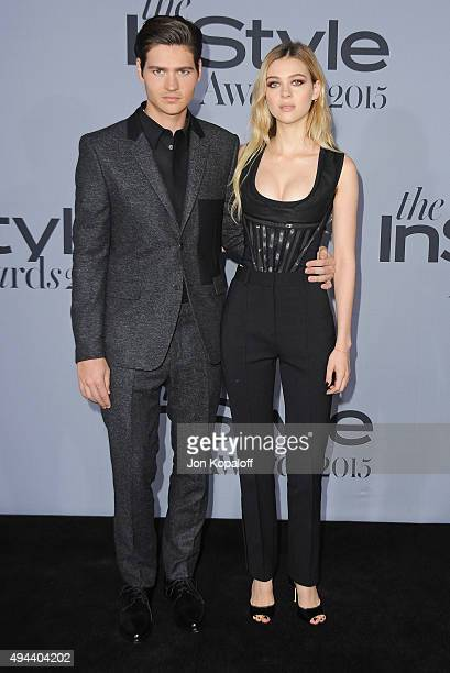 Will Peltz and sister Nicola Peltz arrive at the InStyle Awards at Getty Center on October 26 2015 in Los Angeles California