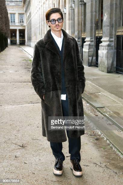 Will Peltz attends the Louis Vuitton Menswear Fall/Winter 20182019 show as part of Paris Fashion Week on January 18 2018 in Paris France