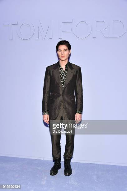 Will Peltz attends the Tom Ford Women's Fall/Winter 2018 fashion show during New York Fashion Week at Park Avenue Armory on February 8 2018 in New...