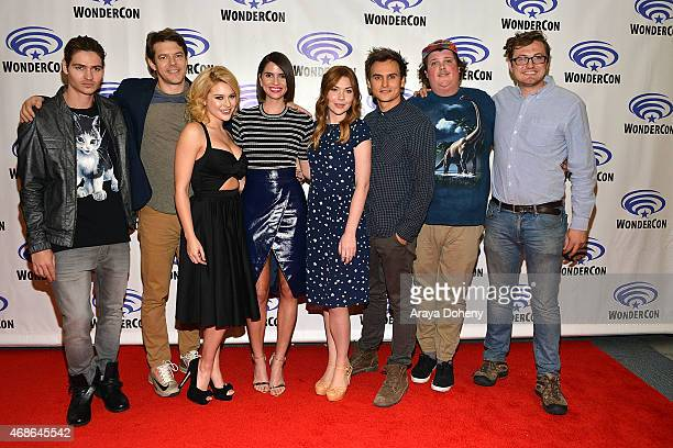 Will Peltz Jason Blum Renee Olstead Shelley Hennig Courtney Halverson Moses Jacob Storm Jacob Wysocki and Nelson Greaves attend 'Unfriended' Cast and...