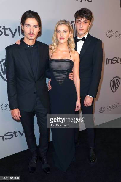 Will Peltz Nicola Peltz and Anwar Hadid attend the 2018 InStyle and Warner Bros 75th Annual Golden Globe Awards PostParty at The Beverly Hilton Hotel...