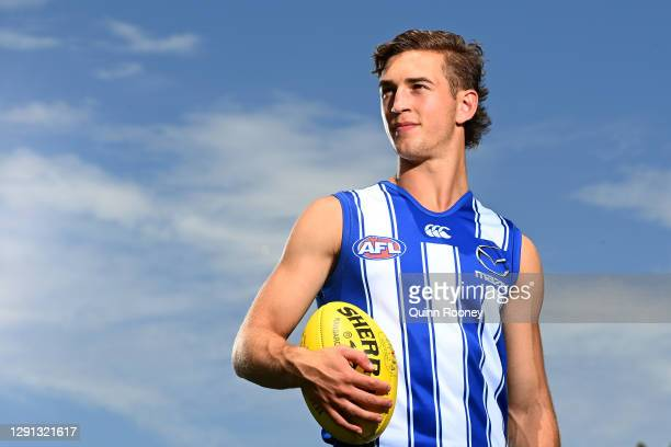 Will Phillips of the Kangaroos poses during a North Melbourne Kangaroos AFL training and media session at Arden Street Ground on December 15, 2020 in...