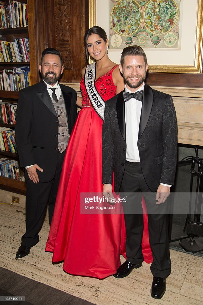 Will Pintauro-Tabares, Miss Universe Paulina Vega Dieppa and Courage Honoree/Actor Danny Pintauro attend the 2015 Aid For AIDS Gala at Cipriani Downtown on November 4, 2015 in New York City.