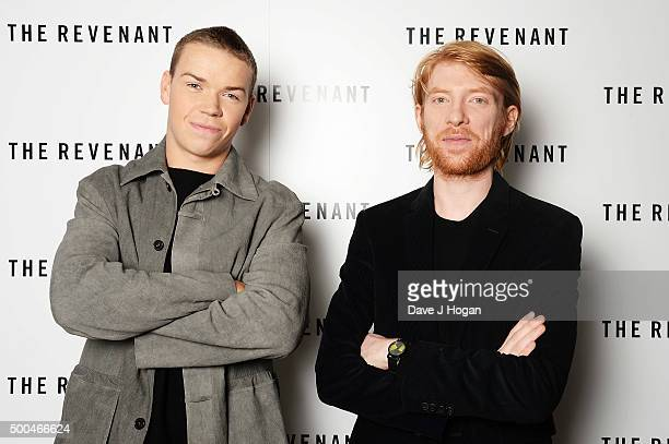 Will Poulter and Domhnall Gleeson attend a BAFTA Q&A of 'The Revenant' at Vue Leicester Square on December 6, 2015 in London, England.