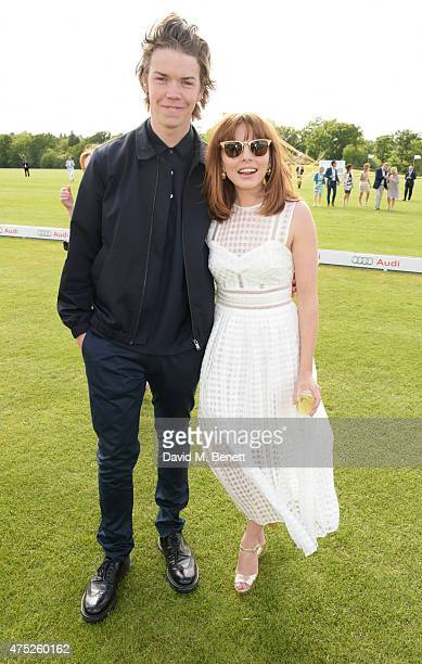 Will Poulter and Ophelia Lovibond attend day one of the Audi Polo Challenge at Coworth Park on May 30 2015 in London England