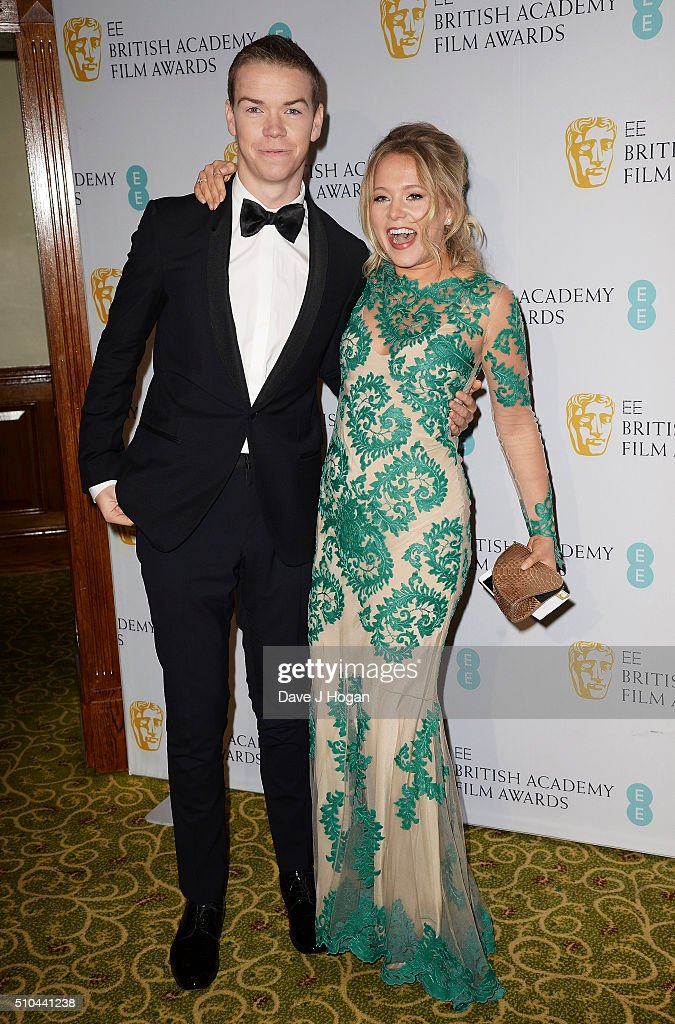Will Poulter (L) and Poppy Jamie attend the official After Party Dinner for the EE British Academy Film Awards at The Grosvenor House Hotel on February 14, 2016 in London, England.